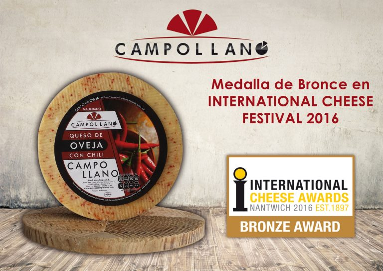 Medalla de Bronce en International Cheese en el Festival del 2016