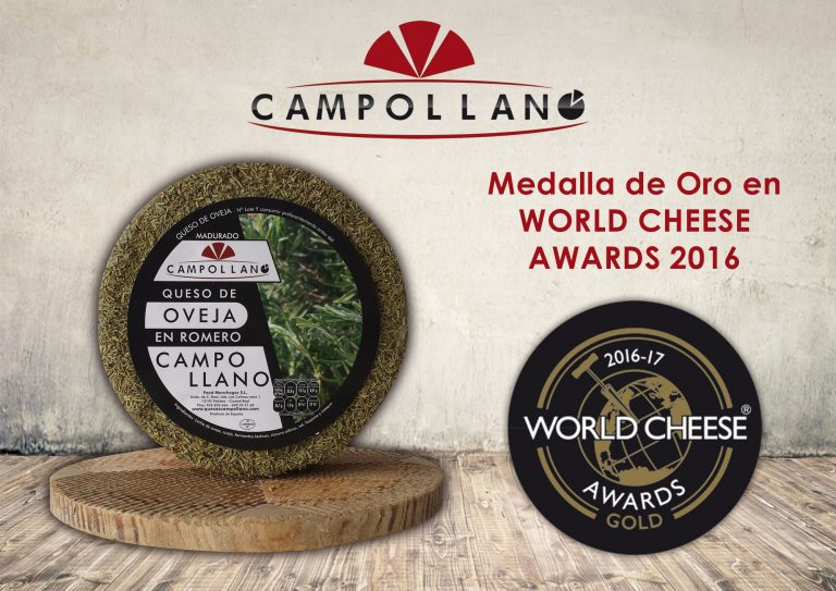 Medalla de Oro en World Cheese Wards en 2016