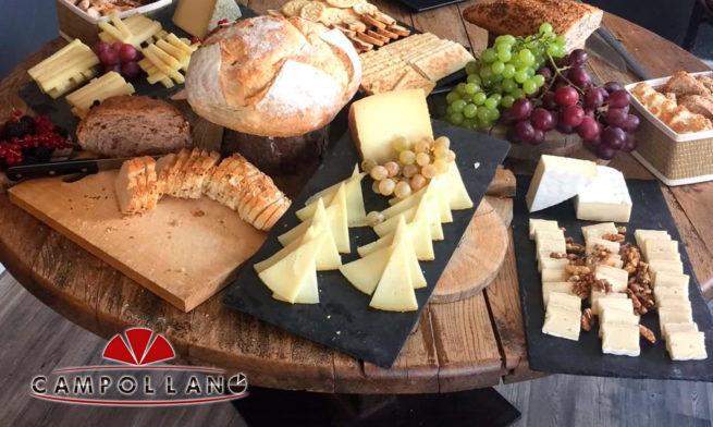 mesa de queso curado